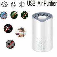 Home Car USB Air Purifier HEPA Filter UV Remover Odor Dust Smoke Air Freshener