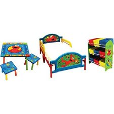 Sesame Street Elmo Room-In-A-Box 5 Piece Bedroom Set - Kids And Toddlers