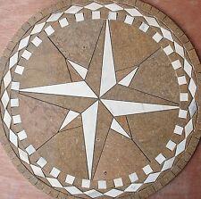 "Floor 32"" Marble TravertineTile Medallion Design Stone 32"" #23c"