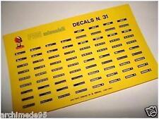 DECALS 1/43 TARGHE FERRARI DINO-GTO-MONDIAL-348 ECC