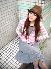 Japan Striped Tiered Knit Swing Babydoll Dress! Black