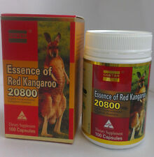 New Essence Of Red Kangaroo 20800 Max 100 Capsules Bottle
