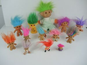 x13 Troll Dolls Russ TNT DAM 1986 Croner Vintage 1990's Retro Toy Collectable