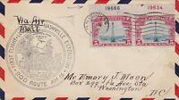 US Airmail 1931 First Flight Plane Over Nashville Slogan Stamp Cover Ref 48516