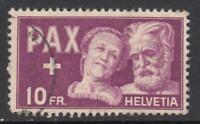 SWITZERLAND  PAX 10 Fr. Yv 417  cv 240$  used