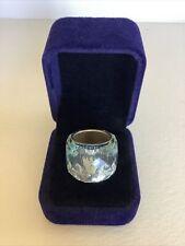 Authentic Swarovski Crystal Beautiful Pale Blue Nirvana Ring Size 58 EU
