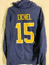 REEBOK Pullover Hoodie NHL Jersey Buffalo Sabres Jack Eichel Navy sz L