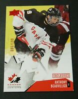 2015-16 UD Team Canada Juniors Exclusives Red #74 Anthony Beauvillier - NM/NM-MT