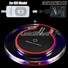 NEW Fast Qi Wireless Clear Charger Charging Pad Station Dock For iPhone Samsung