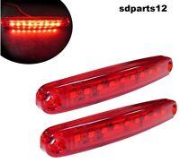 2x 9 LED 12V Rosso Lato Posteriore Luci di Ingombro Camper Roulotte Auto SUV