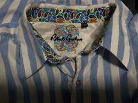 Recent Robert Graham 3XL Paisley Stripe Blue Button Up Shirt 3XL Striped