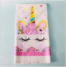Unicorn Theme Kids Tablecloth Baby Shower Decor Birthday Party Supplies S