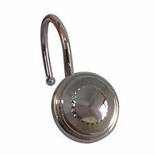 Elegant Home Fashions Shower Hooks Chrome Round Bottle Cap Design