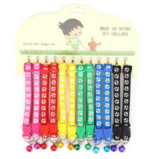 12PCS Adjustable Dog Cat Bell Collars Pet Nylon Collar with Necklace Buckle Best