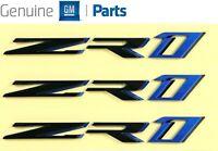 82-92 Camaro RS Teal Rocker Panel /& Rear Bumper Emblem Set of 3 9192RSTEAL