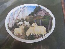 Simplicity Stitchery Crewel Embroidery KIT SHEEP stamped scene 8x10 farmyard