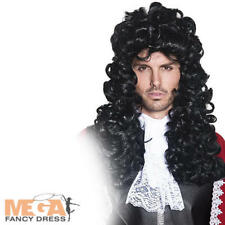 Pirate Captain Hook Wig Adults Fancy Dress Mens Halloween Costume Accessory New