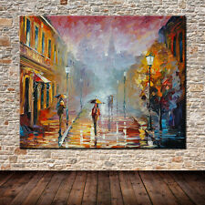 Large Hand Painting Street Landscape Oil Paintings On Canvas Wall Decor Pictures