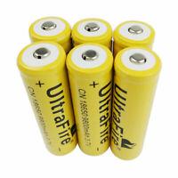 6pcs 3.7V 18650 9800mAh Li-ion Batterie Rechargeable Battery for LED Flashlight