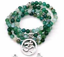 6MM Green Onyx Stone Bead Men Bracelet Necklace Yoga Reiki Prayer Charms 108