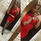 Women Sexy Long Sleeve Bodycon Evening Party Cocktail Clubwear Pencil Mini Dress