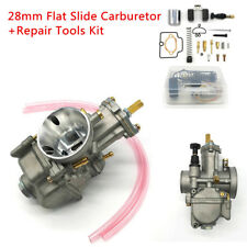 28mm Flat Slide Carburetor+Repair Tool for Motorcycle Scooter KTM ATV 80cc-350cc