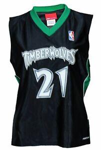 Reebok NBA Basketball Women's Minnesota Timberwolves Kevin Garnett Jersey