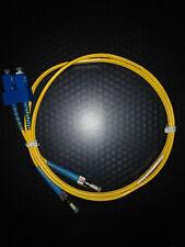 Hellermann VFA1SCSTOS2 FT SC - ST Duplex OS2 Fiber Assembly, 1M, Yellow, 1/pkg