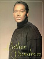 LUTHER VANDROSS 1990 BEST OF LOVE TOUR CONCERT PROGRAM BOOK BOOKLET-VG TO EXC