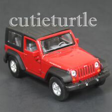 "4.5"" Welly Jeep Wrangler Rubicon Top Up Diecast Toy Car 42371H-D Red"