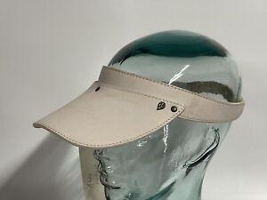 Helen Kaminski Abby Panama Natural Ivory Leather Visor NWT New One Size