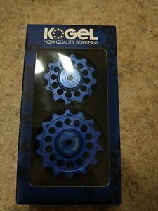 PULL-NW1214-BLUE Kogel Bearings Oversized Pulleys w/ Cross Seal Blue Sram Eagle
