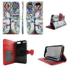 Flip Wallet Case Tree Pattern for ipod touch 5 6 Cash id Slot Stand Cover