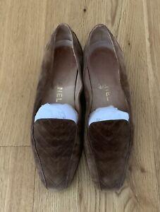 Original CHANEL Schuhe Ballerinas, Wildleder, Gr. 39, Braun, Damen, Vintage