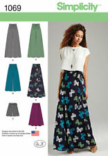 Simplicity 1069 Easy 12-20 Palazzo Pant Wide Leg Culotte Wrap Skirt Shorts Women