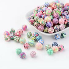 50 Stück Fimo 10-11mm Perlen Polymer Clay Beads Basteln - 1229