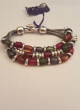 Pulsera de joyería de alta calidad, perlas y. CICLON Plata Plateado BNWT. pequeño