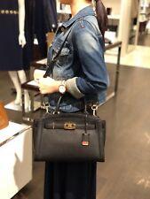 Michael Kors Karson Large Satchel Pebbled Leather Bag Black