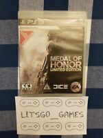 Medal of Honor - Limited Edition (Sony PlayStation 3, 2010) PS3 Complete