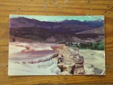 Vintage Postcard Mammouth Hot Springs, Yellowstone National Park, Wyoming