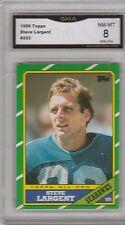 STEVE LARGENT -- 1986 TOPPS -- #203 -- GRADED NM-MT 8