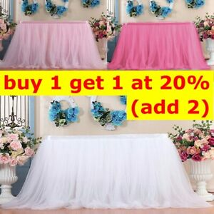Tutu Tulle Table Skirt Tableware Table Cloth Cover Home Wedding/Party Decor UK