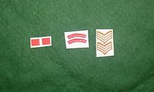 1/6 WW2 BRITISH Duca di Wellingtons REGGIMENTO spalla titoli Patch set lotto
