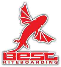 "Best Kiteboarding Kite Kiteboard Surfing Red Bumper Window Sticker Decal 4.1""X5"""