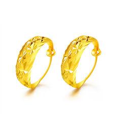 Pure Solid 999 24K Yellow Gold Earrings / Women's Many Star Earrings / 5-6g