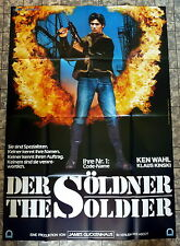 KLAUS KINSKI, KEN WAHL * DER SÖLDNER - A0-FILMPOSTER  XXL Ger 2-Sheet 1982