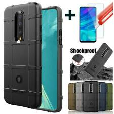 For OnePlus 7/ 7 Pro Soft Case Hybrid Rubber Shockproof Cover + Screen Protector