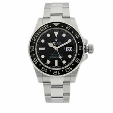 Rolex Gmt-master Ii Aço Inoxidável Mostrador Preto Relógio Masculino Automático 116710N