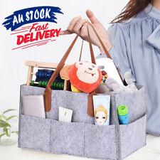 Baby Diaper Caddy Nursery Storage Bin Infant Wipes Bag Nappy Organizer Basket AU