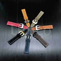 18-24 MM Watch Black Leather Strap Band Clasp Replacement Fits For Panerai 2020